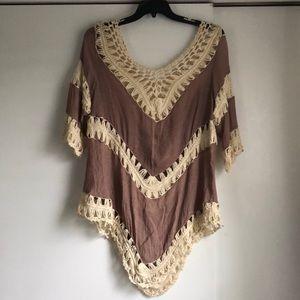 Altar'd State Boho Crochet Tunic.